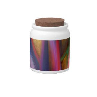 arte, digital, color platos para caramelos