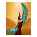 Arte digital de la diosa pagana egipcia de la postales