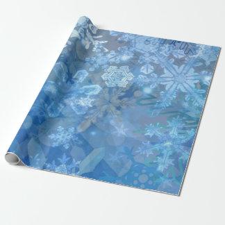 Arte digital de la tormenta del copo de nieve papel de regalo