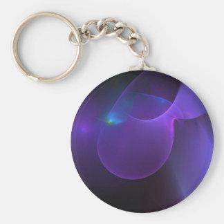 arte digital de las púrpuras uno-punto-de-verdes a llavero redondo tipo pin