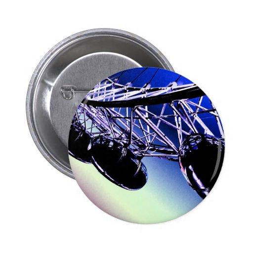 arte digital de Londres de la rueda del milenio Pin Redondo 5 Cm