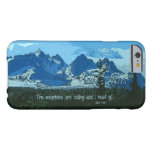 Arte digital de los picos de montaña - cita de funda para iPhone 6 barely there