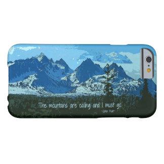 Arte digital de los picos de montaña - cita de funda barely there iPhone 6