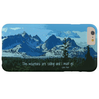 Arte digital de los picos de montaña - cita de funda para iPhone 6 plus barely there