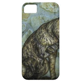 arte digital del gato moderno iPhone 5 carcasa