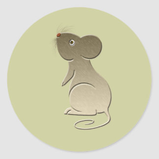 Arte digital del ratón lindo pegatina redonda