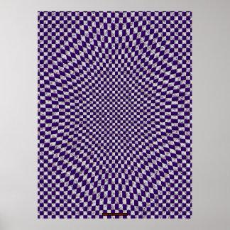 Arte diseñado floral II de la pared de la ilusión  Póster
