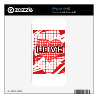 Arte/diseño del amor iPhone 4 calcomanía
