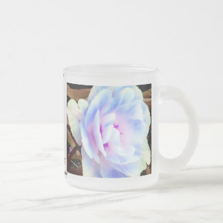 Arte, diseño y fotografía color de rosa de taza cristal mate