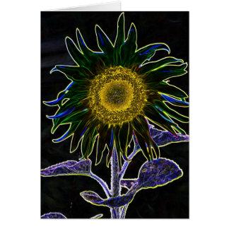 arte ditial del girasol tarjeta de felicitación
