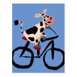 Arte divertido de la bicicleta del montar a postales