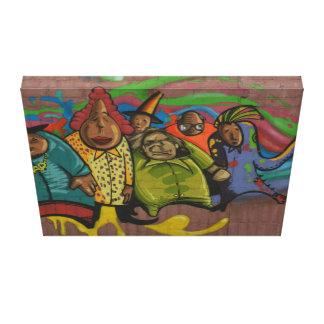 Arte divertido de la calle de la pintada de la gen lienzo envuelto para galerias