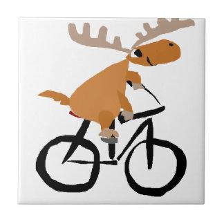 Arte divertido de la original de la bicicleta del azulejo cuadrado pequeño