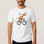 Arte divertido de la original de la bicicleta del polera