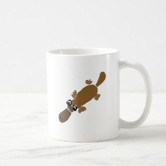 Arte divertido de Platypus del Duckbill Taza De Café