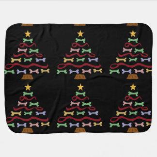 Arte divertido del árbol de navidad de la galleta mantita para bebé