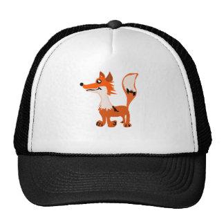 Arte divertido del Fox rojo Gorras De Camionero