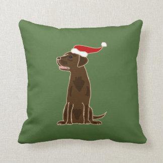Arte divertido del navidad del labrador retriever almohada
