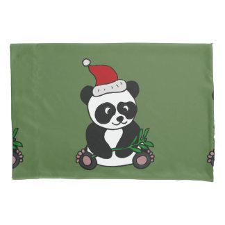 Arte divertido del navidad del oso de panda funda de cojín