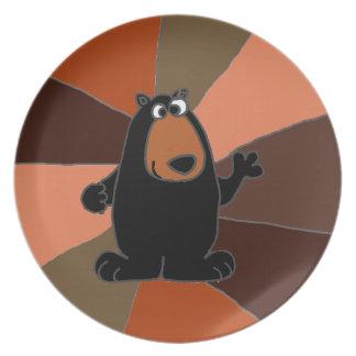 Arte divertido del oso negro