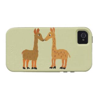 Arte divertido del primitivo del amor de la llama vibe iPhone 4 fundas