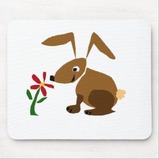 Arte divertido del primitivo del conejo de conejit tapetes de ratones