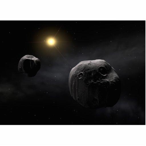 Arte doble del espacio del Antiope del asteroide Esculturas Fotograficas