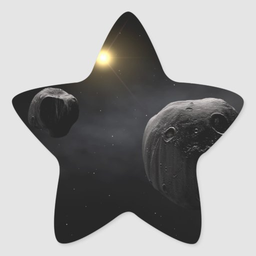 Arte doble del espacio del Antiope del asteroide Etiquetas