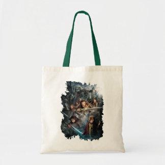 Arte dominante bolsas lienzo