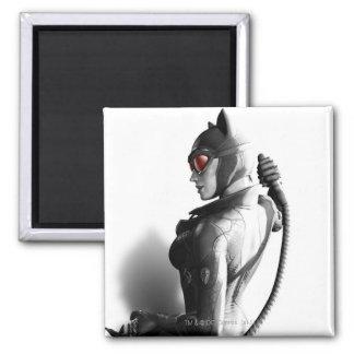 Arte dominante del Catwoman Imán Cuadrado