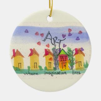 Arte donde vive la imaginación adornos de navidad