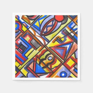 Arte Dos-Abstracto de la calle urbana geométrico Servilleta Desechable