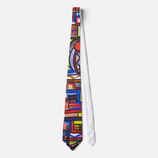 Arte Dos-Abstracto Handpainte geométrico de la Corbatas Personalizadas