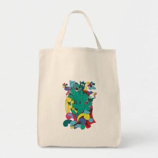arte dulce del dibujo animado del monstruo bolsa