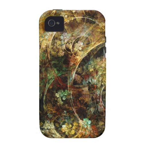 Arte dulce del fractal del extracto del otoño Case-Mate iPhone 4 carcasas