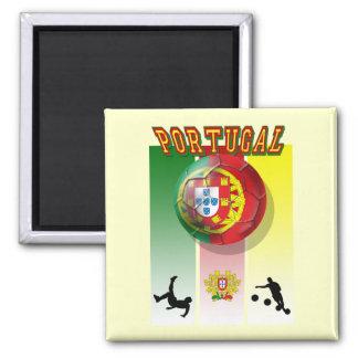 Arte e Futebol encontra - Futebol Portuês 2 Inch Square Magnet
