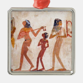 arte egipcio adorno navideño cuadrado de metal