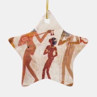 arte egipcio adorno navideño de cerámica en forma de estrella