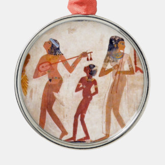 arte egipcio adorno navideño redondo de metal