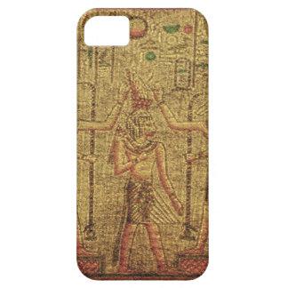 Arte egipcio antiguo de la pared del templo iPhone 5 protectores