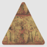 Arte egipcio antiguo de la pared del templo pegatinas trianguladas personalizadas