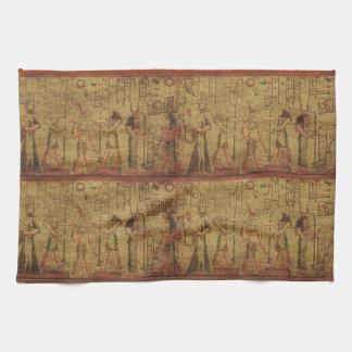 Arte egipcio antiguo de la pared del templo toalla