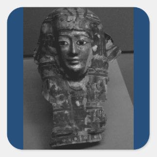 Arte egipcio B+W Calcomanías Cuadradass Personalizadas