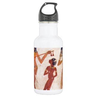 arte egipcio botella de agua de acero inoxidable