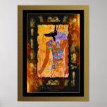Arte egipcio de ANUBIS en el poster del efecto del