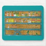 Arte egipcio de la pared alfombrilla de raton