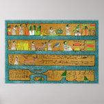 Arte egipcio de la pared impresiones