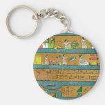Arte egipcio de la pared llavero personalizado