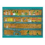 Arte egipcio de la pared tarjeta postal