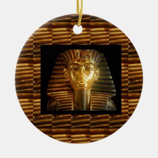 Arte egipcio de los ídolos del VINTAGE: PIRÁMIDES  Ornamento De Navidad